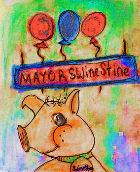 Mayor Swinestine by Melissa Osborne