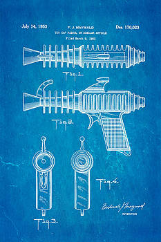 Ian Monk - Maywald Toy Cap Gun Patent Art 1953 Blueprint