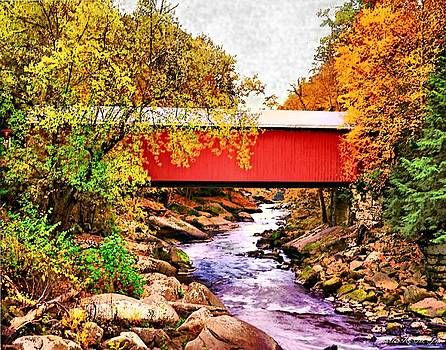 McConnells Mill Covered Bridge by Charles Ott