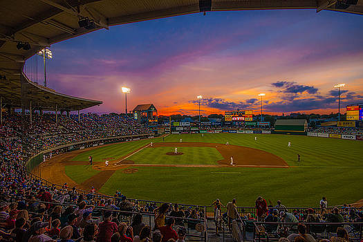 McCoy Stadium Sunset by Tom Gort