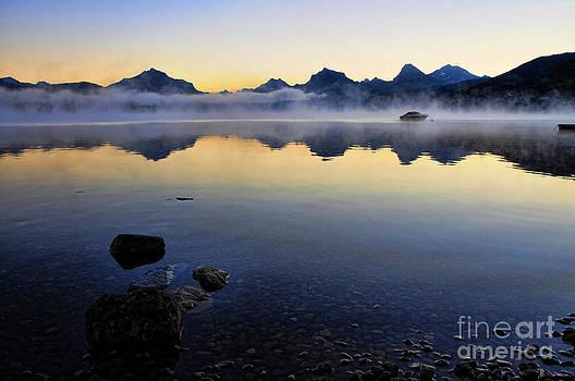 McDonald Lake Sunrise by Gary Beeler