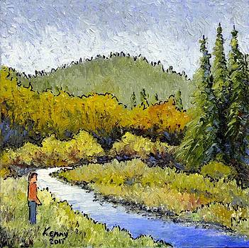 Me and a creek by Kenny Henson