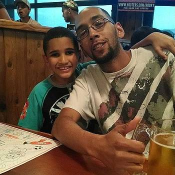 Me And My Son At Hooters by Jason Wells