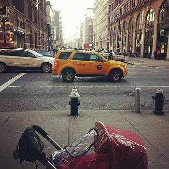 Me And The Red Stroller In The City by Minnie L
