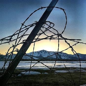 #meadow #mountains #snow #barbedwire by David Williams