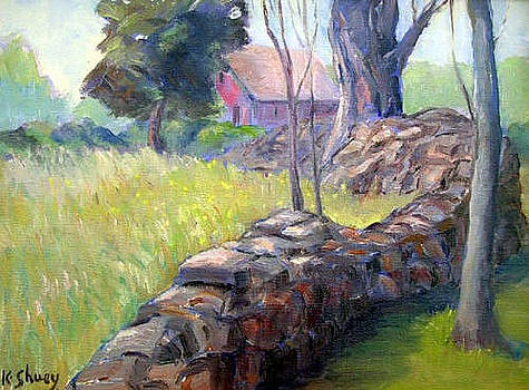 Meandering Stone Wall by Ken Shuey