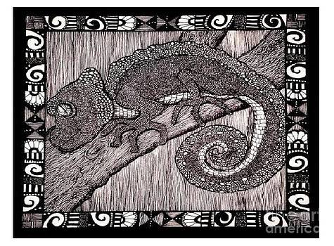Meanwhile Back In Africa A Camelion by Lenora Brown