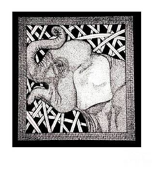 Meanwhile Back In Africa An Elephant by Lenora Brown