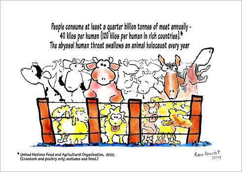 Meat Consumption - Animal Holocaust by Ben Isacat