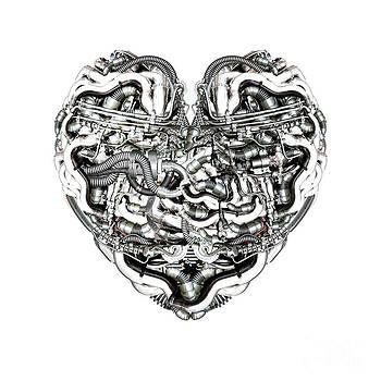 Mechanical Heart with brain by Diuno Ashlee