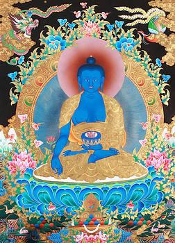 Medicine Buddha Art by Ts