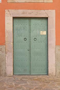 Medieval Door of Vic Catalunya by Calvin Hanson