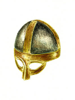 Medieval Helmet by Michael Vigliotti
