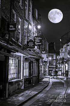 Medieval street in York BW by Lilianna Sokolowska