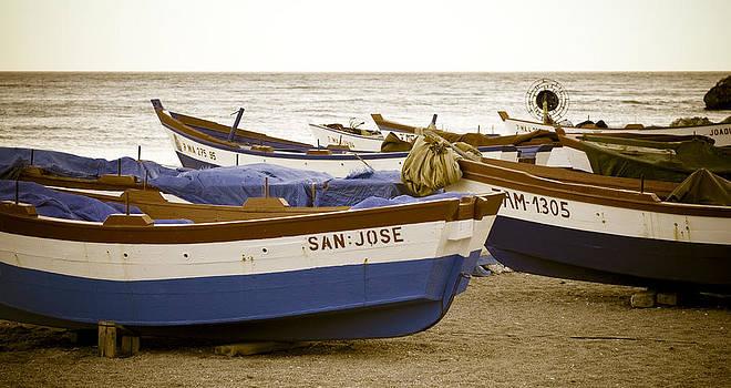 Mediterranean Boats by Frank Tschakert