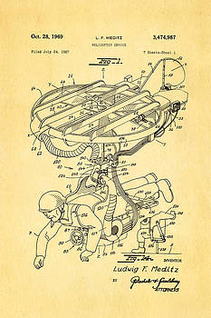 Ian Monk - Meditz Helicopter Device Patent Art 1969