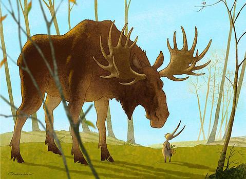 Meeting In The Woods by Dmitry Rezchikov