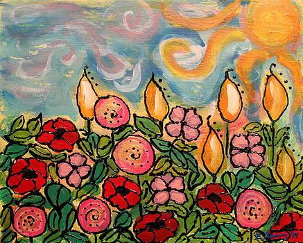 Meeting of Flowers in the Meadow by Brandi Perry