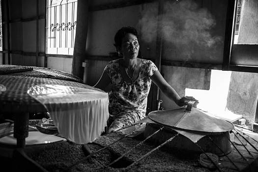 Mekong rice paper maker by James McRae
