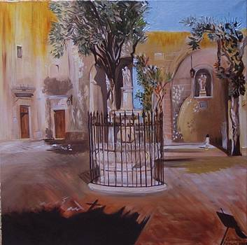 Mellieha  Chapel  Courtyard by Catrina louise  Attard