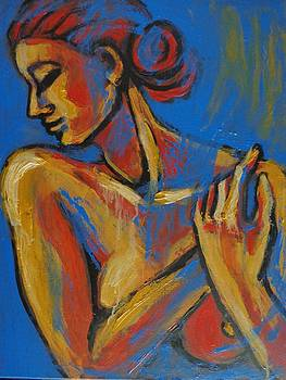 Mellow Yellow- Female Nude Portrait by Carmen Tyrrell