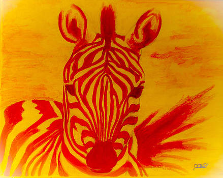 Mellow Yellow Zebra by Scott Dokey