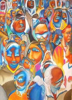 Melted Crowd II by Graciela Scarlatto