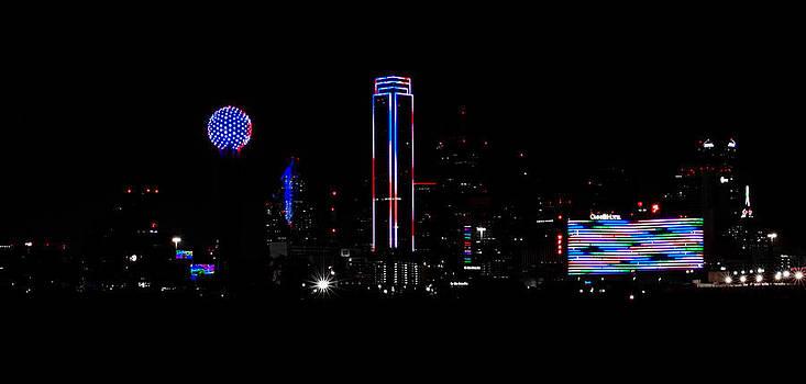 Memorial Day '14- Downtown Dallas Skyline 2 by Christen Weber