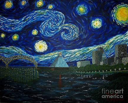 Dedication to Van Gogh Memphis Starry Night by Jack Lepper