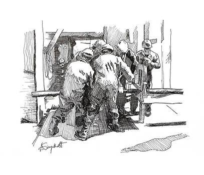 Men at Work 2 by Alexei Biryukoff