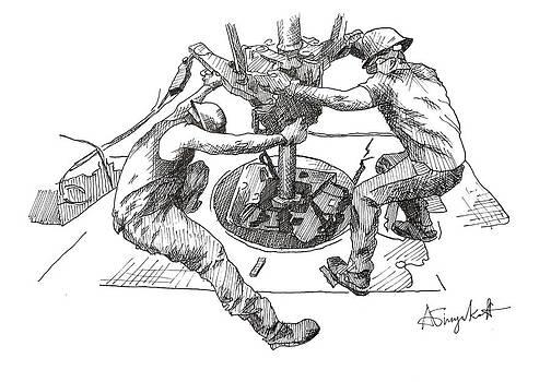 Men at Work 4 by Alexei Biryukoff