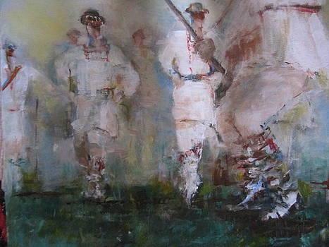 Men dance  by Maria Chibacu