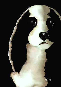 Mercedes - Our Cavalier King Charles Spaniel  No. 8 by Diane Strain