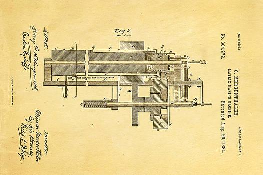 Ian Monk - Mergenthaler Linotype Printing Patent Art 2 1884