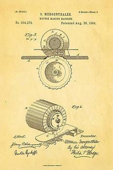 Ian Monk - Mergenthaler Linotype Printing Patent Art 3 1884