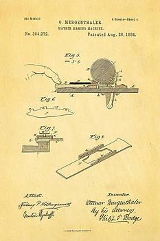 Ian Monk - Mergenthaler Linotype Printing Patent Art 4 1884