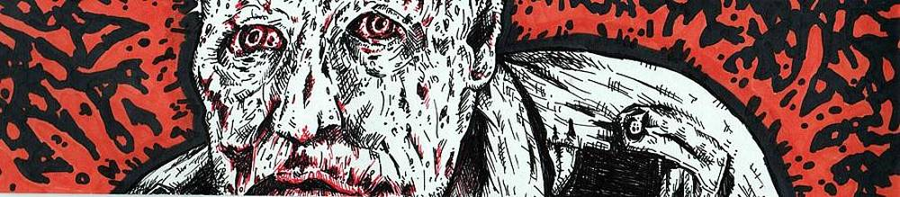 Merle Dixon Zombie The Walking Dead by Michael Toth