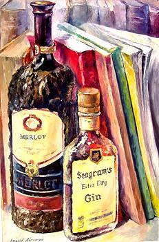 Merlot - PALETTE KNIFE Oil Painting On Canvas By Leonid Afremov by Leonid Afremov