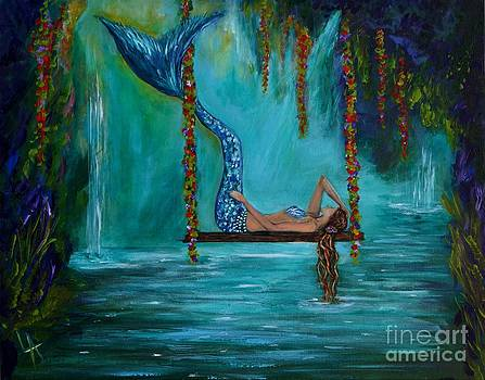 Mermaids Tranquility by Leslie Allen