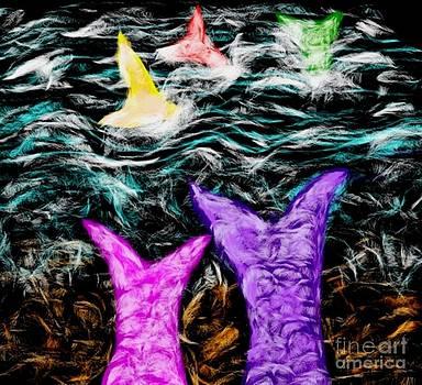 Gail Matthews - Mermaids watching friends