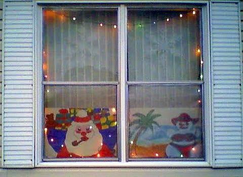 Merry Christmas Santa Window by Debbie Wassmann