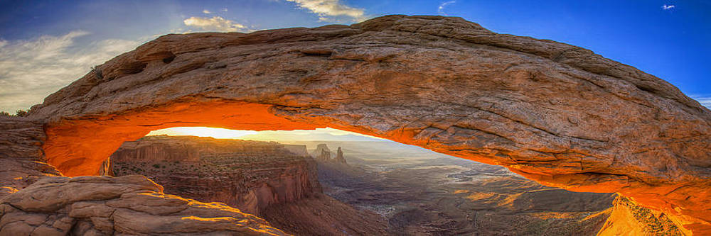 Mesa Arch Panoramic by Peter Irwindale