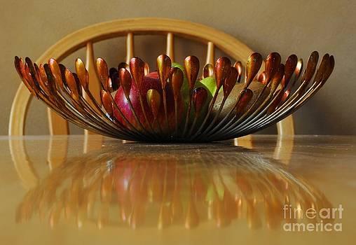 Metal fruit bowl  by Bobby Mandal