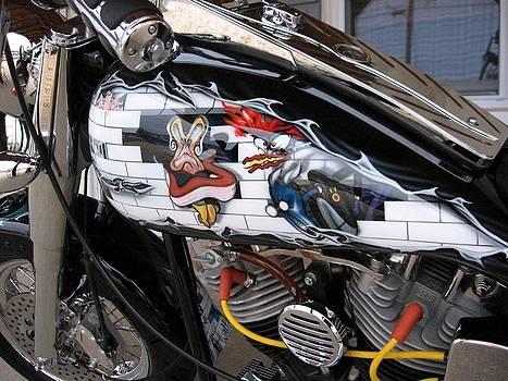 Susan Carella - Metal - Motorcycle - The Wall
