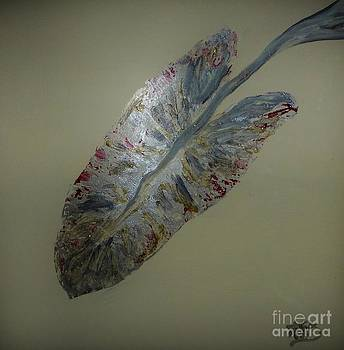 Metallic Leaf in Gray by Marie Bulgern