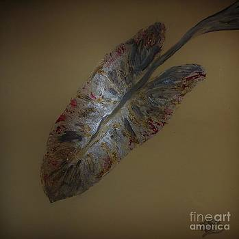 Metallic Leaf in Tan by Marie Bulger