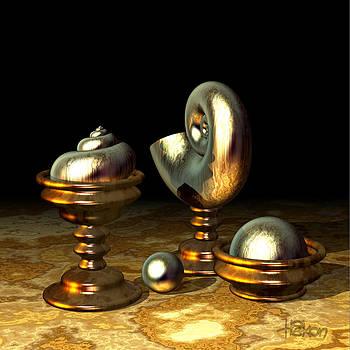 Hakon Soreide - Metallic Nautilus Shell 2D