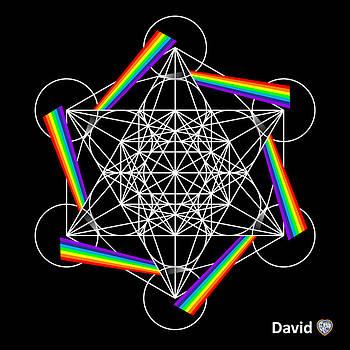 Metatron's Rainbow Healing Cube by David Diamondheart