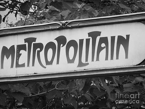 Metropolitain - Undergroung - Paris - France by Francoise Leandre