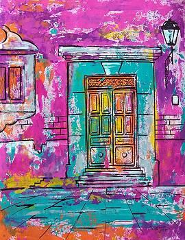 Mexican door by Cristiana Marinescu